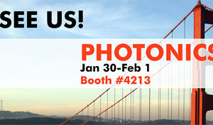 Photonics West booth #4213, BIOS booth #8554, January 27 – February 1st 2018