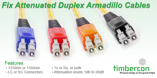 Timbercon Announces Fix Attenuated Armadillo Cable Assemblies