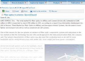 Timbercon in the News – Fiber optics in avionics: Upward Bound